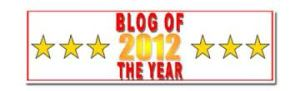 Blog of the year 2012 award 6 stars