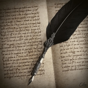 writing quill and notebook